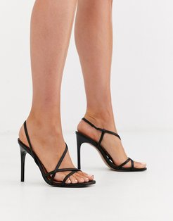 Notorious strappy heeled sandals in black