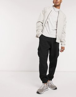 oversized sweatpants with cargo pockets in black