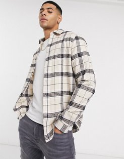 regular check shirt in ecru-Beige