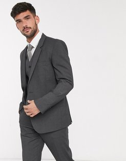slim suit jacket in charcoal-Gray