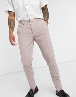 super skinny smart pants in pink dog tooth