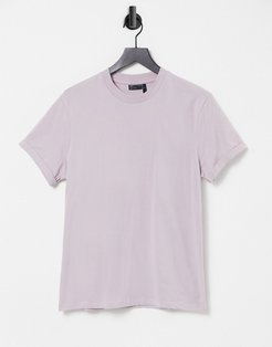 t-shirt with roll sleeve in pink-Purple