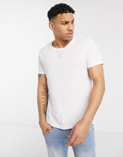 t-shirt with scoop neck-White