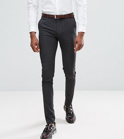Tall super skinny smart pants in charcoal-Gray