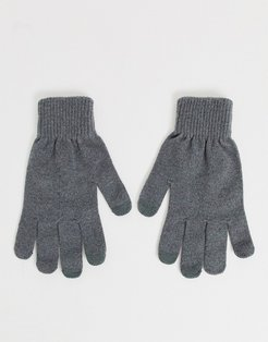 touchscreen gloves in gray