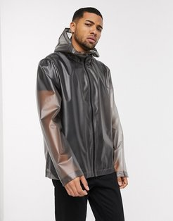 translucent windbreaker jacket in gray-Grey