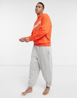 Two Mile lounge sweatshirt and sweatpants pajama set-Red