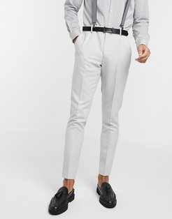 wedding skinny suit pants in brushed twill in ice gray