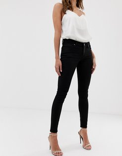 whitby low rise 'skinny' jeans in clean black-Blues