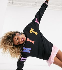x glaad relaxed sweatshirt with unity print in black