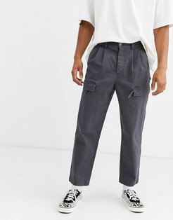 cargo pants in dark gray