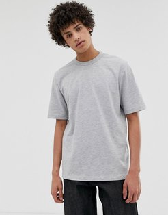 loose fit heavyweight t-shirt in light gray marl