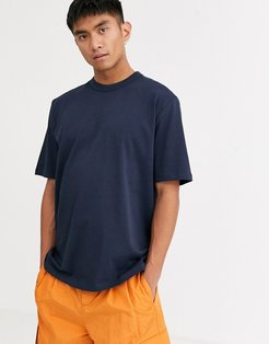 loose fit heavyweight t-shirt in navy