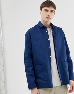 loose overshirt in navy