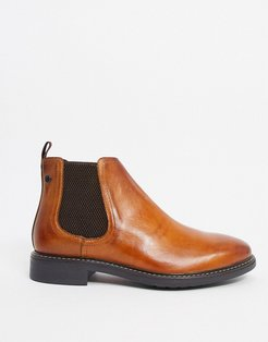 seymour chelsea boots in tan leather-Brown