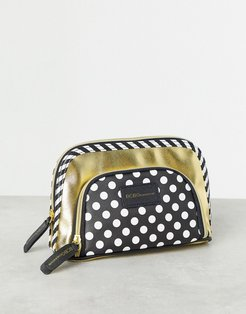 cosmetic bag with double pouch-Gold