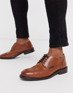 lace up shoes in tan-Brown