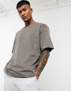 Join Life oversized t-shirt taupe-Beige
