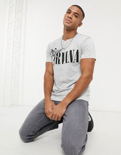 Nirvana t-shirt in washed gray