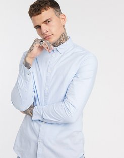 slim fit shirt in light blue