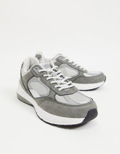 sporty sneakers in gray-Grey