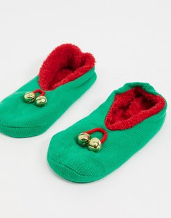elf slipper socks-Multi