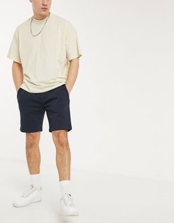 jersey shorts in navy