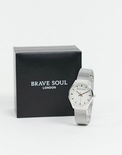 mesh watch in silver