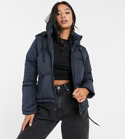 cello hooded puffer jacket-Navy