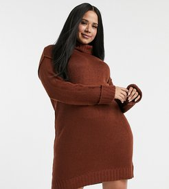 tangy sweater dress-Red