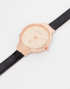 watch in rose gold-Black