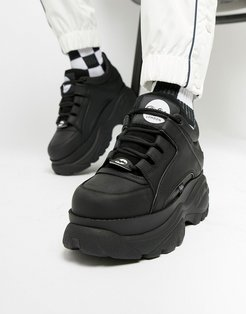classic chunky sole sneakers in black