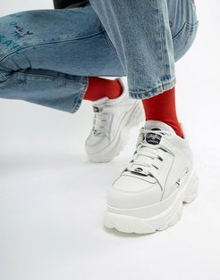 classic chunky sole sneakers in white