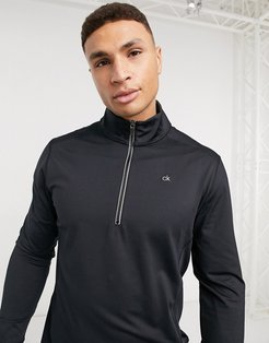 Galaxy half-zip technical layer in black and silver