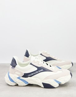 Jeans solaris sneakers in white mix-Multi