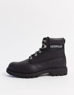 CAT leather hiker boots in black