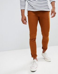 Skinny Fit Chino In Rust-Brown