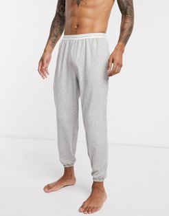 CK One basic lounge terry sweatpants in gray