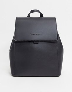 Unlined Flapover Backpack-Black