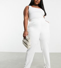 Club L London tailored pants in white