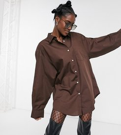 oversized dress shirt in brown
