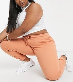 Plus exclusive color coordinating skinny fit sweatpants in blush-Pink