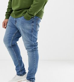 Plus x001 skinny jeans in blue mid wash