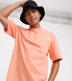 t-shirt with logo placement print in orange