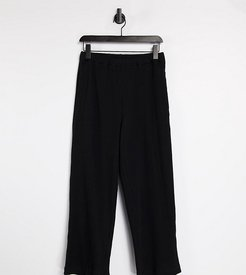 Unisex relaxed sweatpants in heavy rib in black - part of a set
