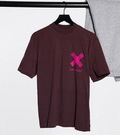 Unisex T-shirt with logo print in brown