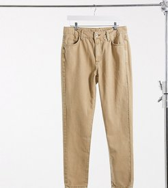 x003 tapered jeans in tan-Brown