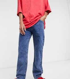 x005 straight leg jeans in washed blue