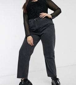x006 Plus mom jeans in washed black