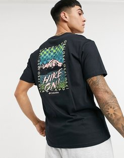 Hike On t-shirt in black